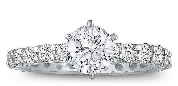 SuperJeweler 2.50 TCW Diamond White Gold Eternity Engagement Ring