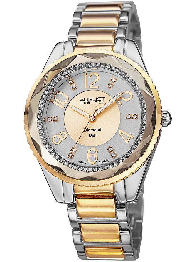 Women's Two-Tone Alloy Gold-Tone Dial - August Steiner Watch