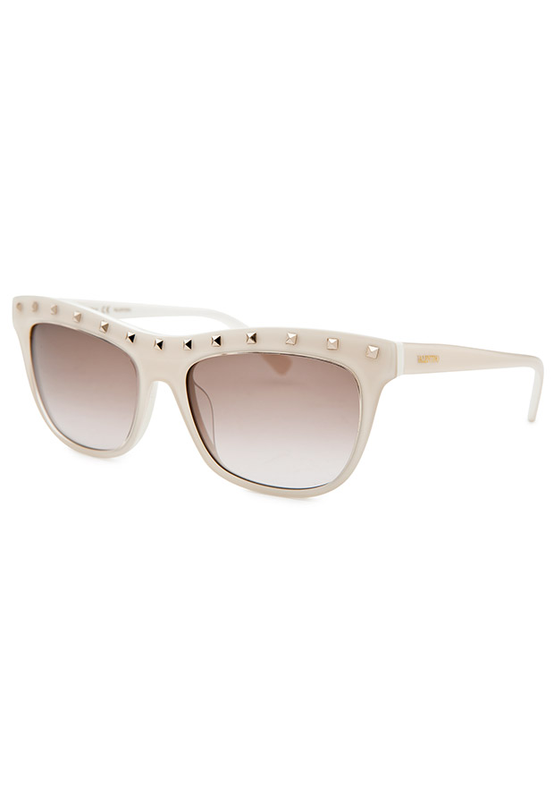 Women's Square Ivory Sunglasses - Valentino Watch