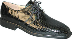 Men's Giorgio Brutini Genuine Snake 15522 - Black Oxfords