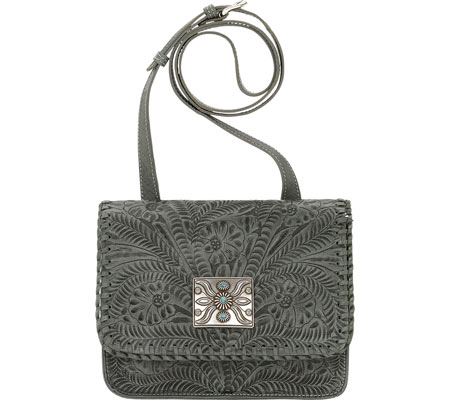 Women's American West Grand Prairie Multi-Compartment Crossbody Flap Bag