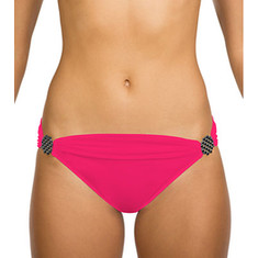 Swim Systems - Banded Hipster Bottom with Hardware Tabs (Women's) - Azalea