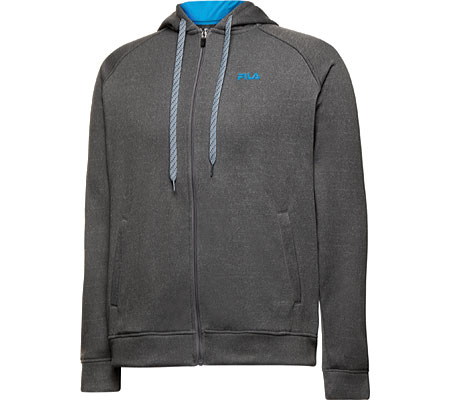 Men's Fila Triumph Fleece Hoody - Varsity Heather/Ocean Blue Jackets
