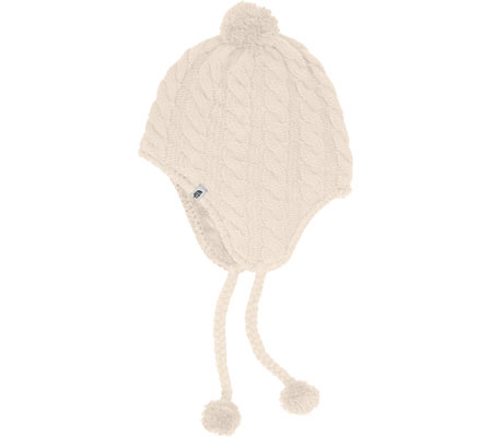 Women's The North Face Fuzzy Earflap Beanie - Vintage White/Vintage White Hats