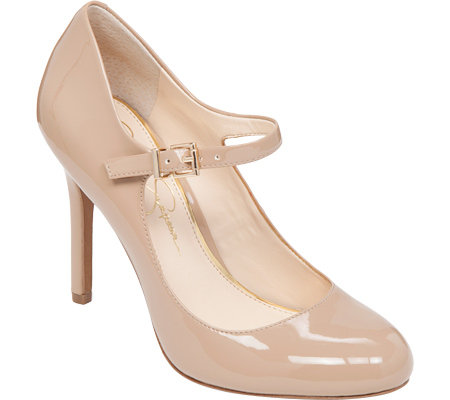 Women's Jessica Simpson Raelyn Mary Jane - Nude Patent High Heels