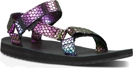 Women's Teva Original Universal Iridescent Sandal - Black Sandals