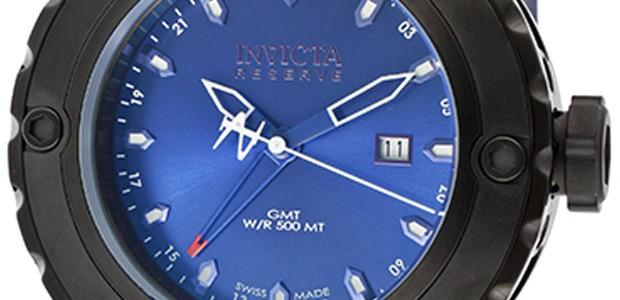 Invicta Men's Subaqua/Reserve GMT Blue Dial Blue Polyurethane