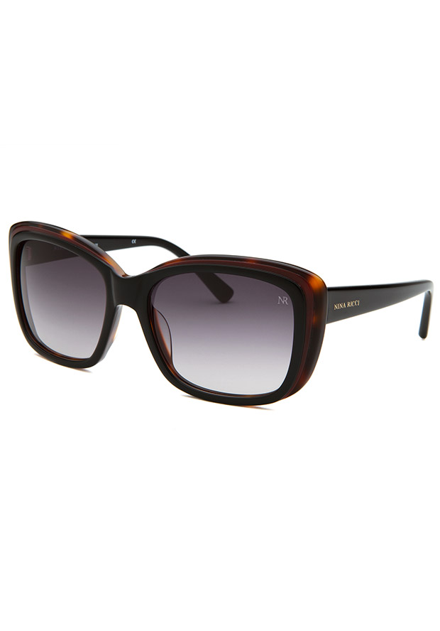 Women's Cat Eye Black, Purple & Havana Sunglasses - Nina Ricci Watch