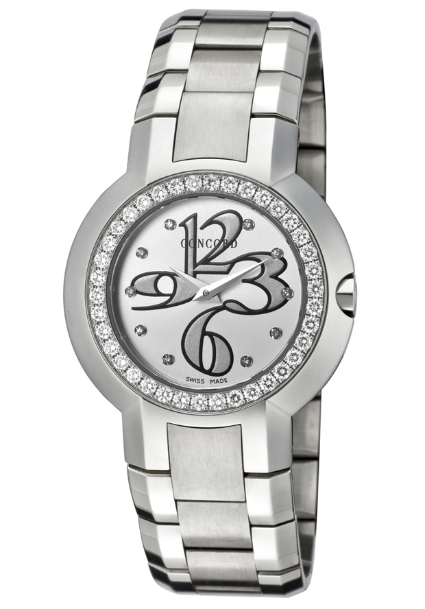Women's La Scala Silver Dial Diamond Stainless Steel - Concord Watch