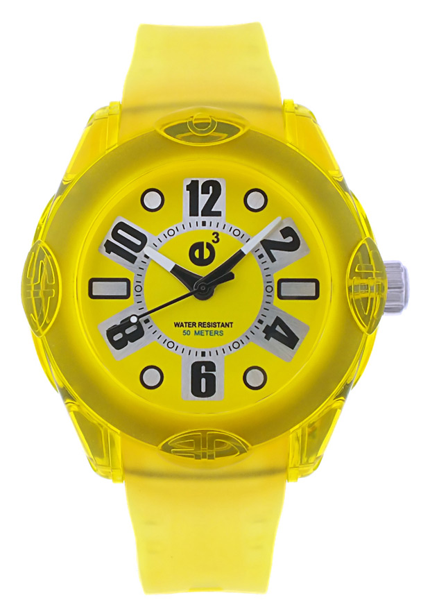 Men's Rainbow Yellow Dial Yellow Polyurethane - Tendence Watch
