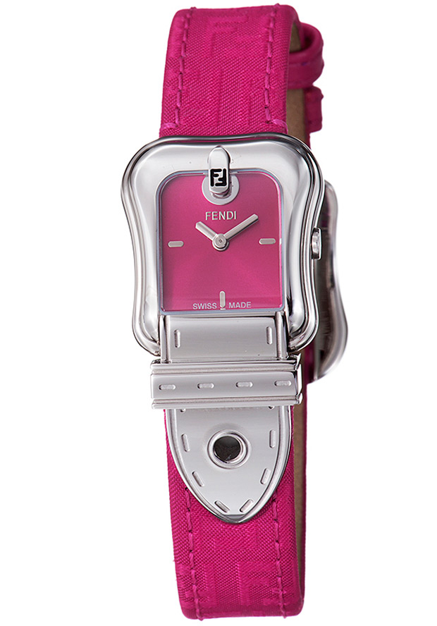 Women's Fendi B. Red Dial Pink Calfskin - Fendi Watch