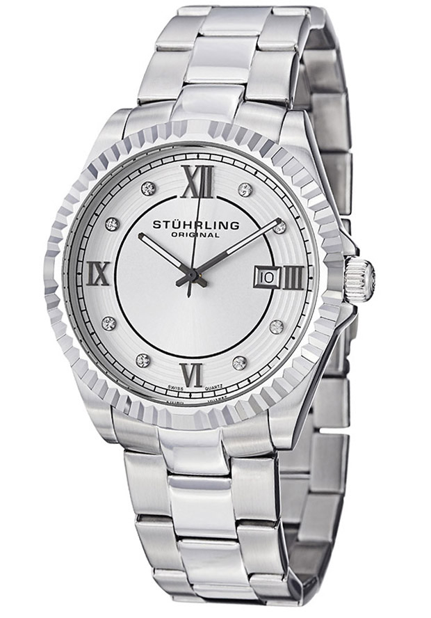 Men's Silver Tone Dial Silver Tone Stainless Steel - Stuhrling Original Watch