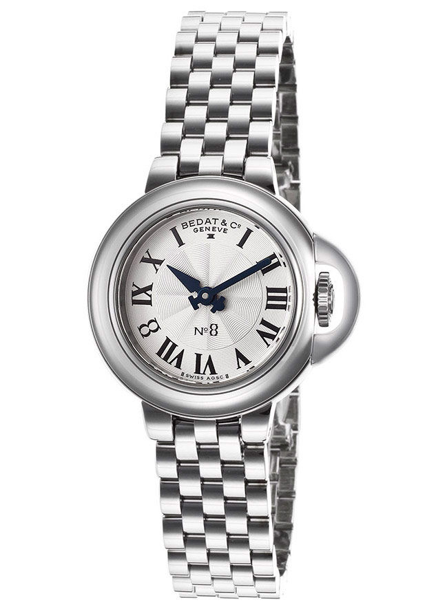 Women's No. 8 Silver Textured Dial Stainless Steel - Bedat & Co. Watch