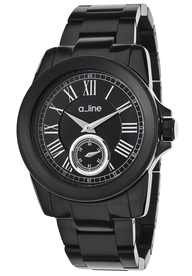 Women's Amare Black Dial Black IP Stainless Steel - a line Watch