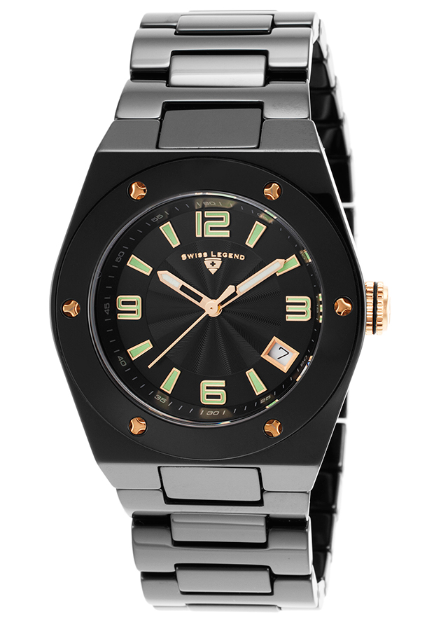 Men's Specialty/Outdoor Black Dial Black Genuine Calf Leather - Invicta Watch