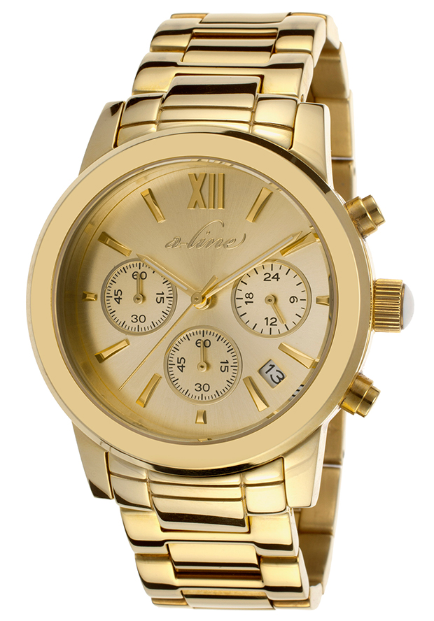 Sophi Chic Chronograph Gold-Tone Steel Gold-Tone Dial - a line Watch