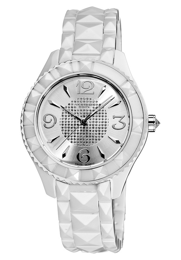 Women's White Dial White Ceramic - Akribos XXIV Watch