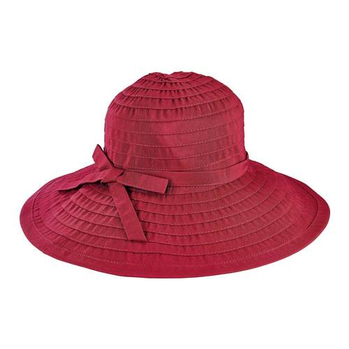 Women's San Diego Hat Company Ribbon Large Brim Hat W/ Bow Rbl299, Size: One Size (21), Wine