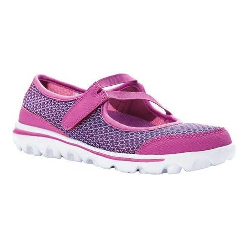 Women's Propet Travelactiv Jo Mary Jane, Size: 10 D, Purple Mesh