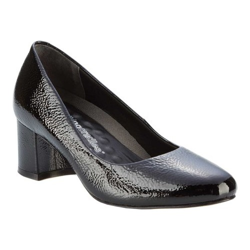 Women's Walking Cradles Jessica Pump, Size: 9 Xw, Black Tumbled Patent Leather
