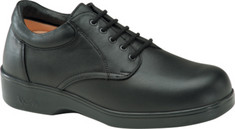 Men's Apex Ambulator Conform Oxford - Black Smooth Leather Diabetic Shoes