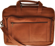 Andrew Phillips Briefcase for Oversized Laptops VN - Tan Vaqueta Nappa Computer Cases