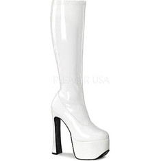 Pleaser - Candy 2000 (Women's) - White Stretch Patent