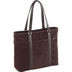 "Women's Mobile Edge Suede Ultra Tote- 15.4""PC/17""Mac - Tan Computer Cases"