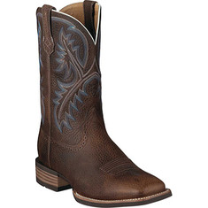 "Ariat - Quickdraw 11"" (Men's) - Brown Oiled Rowdy Full Grain Leather"