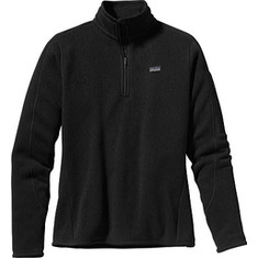 Women's Patagonia Better Sweater 1/4 Zip - Black Jackets