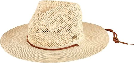 Men's San Diego Hat Company Open Weave Crown Fedora with Chin Cord SDH3019