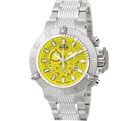 Men's Invicta Subaqua 3 6689 - Stainless Steel/Yellow Analog Watches