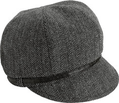 Women's San Diego Hat Company Belted Newsboy EBH9000 - Black Hats