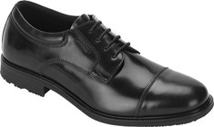 Men's Rockport Essential Details Waterproof Cap Toe - Black Leather Oxfords