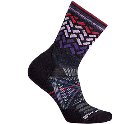 Women's Smartwool PhD Outdoor Light Pattern Mid Crew Sock