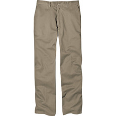 "Men's Dickies Relaxed Fit Cotton Flat Front Pant 34"" Inseam - Khaki Workwear"