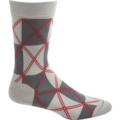 Men's Ozone Midnight Squaregyle Sock - Grey Casual Socks