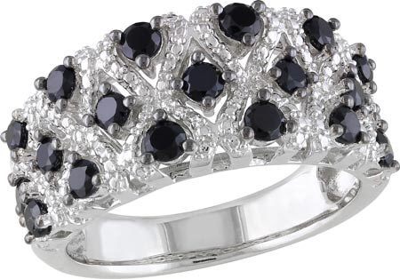 Women's Amour SHB000473 Black Spinel Ring