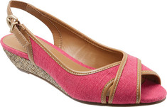 Trotters - Calle (Women's) - Fuchsia Linen/Smooth Synthetic
