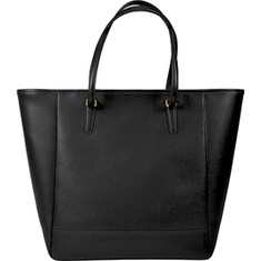 Royce Leather - Charlotte Saffiano Tote Bag (Women's) - Black