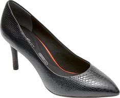 Rockport - Total Motion 75mm Pointy Pump (Women's) - Nero Leather