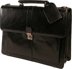 Bond Street - Structured Flapover Top Grain Leather Case - Black