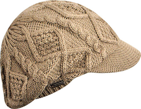 Women's Betmar Luxe Cable Cap - Taupe Winter Hats