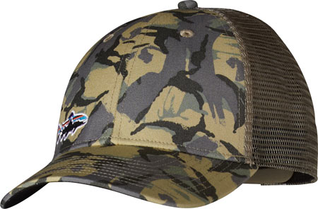 Patagonia Small Fitz Roy Trout LoPro Trucker Hat - Big Camo Classic Tan Baseball Caps