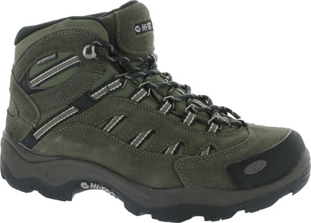 Men's Hi-Tec Bandera Mid Waterproof - Brown/Olive/Snow Boots