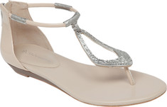 BCBGeneration - Astoria Thong Sandal (Women's) - Nude Blush Synthetic Patent