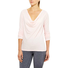 lucy - Enlightening Long Sleeve Top (Women's) - Pink Pearl Heather