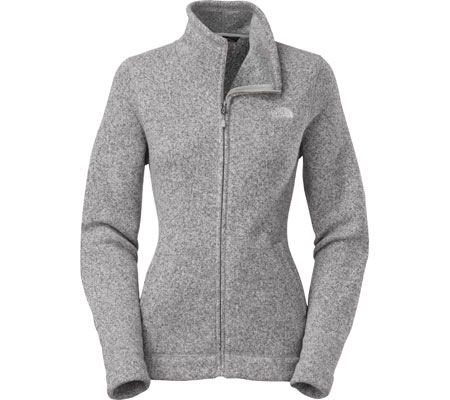 Women's The North Face Crescent Sunset Full Zip - High Rise Grey Heather Jackets